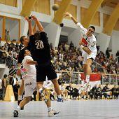 in action at Hungarian National Handball Championship match (Csurgo vs. Veszprem) October 21, 2009 i