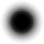 Halftone Element, Circular Halftone Pattern. Specks, Halftone Circle Gradient poster