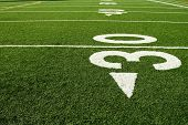 picture of football field  - A shot of an american football field - JPG