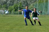 KAPOSVAR, HUNGARY - JUNE 12: Unidentified players in action at the Hungarian National Championship u