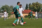 KAPOSVAR, HUNGARY - JUNE 12: David Rafael (in green) in action at the Hungarian National Championshi