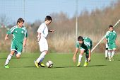 KAPOSVAR, HUNGARY - NOVEMBER 13: Unidentified players in action at the Hungarian National Championsh