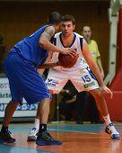 KAPOSVAR, HUNGARY - FEBRUARY 26: Daniel Werner (15) in action at a Hungarian National Championship b
