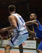 KAPOSVAR, HUNGARY - FEBRUARY 26: Daniel Werner (L) in action at a Hungarian National Championship ba