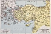 Athenian empire old map. By Paul Vidal de Lablache, Atlas Classique, Librerie Colin, Paris, 1894