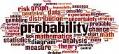 Probability Word Cloud Concept. Collage Made Of Words About Probability. Vector Illustration poster
