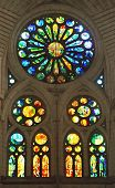 stained glass of the Sagrada Familia