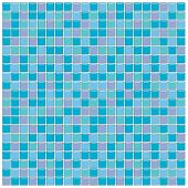 Blue, Green And Purple Glass Tiles