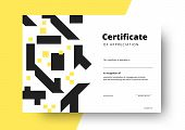 Certificate Of Appreciation Template Design. Elegant Business Diploma Layout For Training Graduation poster