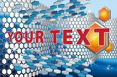 3D vector abstract background with hexagons, EPS8, CMYK