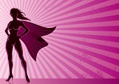 image of superwoman  - Super heroine over grunge background with copy space. 