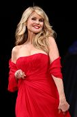 NEW YORK - FEBRUARY 8: Christie Brinkley wears Pamella Roland at The Heart Truth's Red Dress Collect