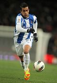 BARCELONA - FEB 4: Diego Ifran of Real Sociedad in action during the Spanish league match against FC