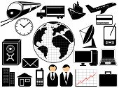 stock photo of people icon  - business and transport icons in vector illustration - JPG