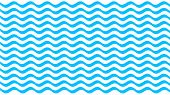 Water Wave Blue Line Stroke On White Background, Water Wave Blue Smooth Simple, Art Line Water Wave  poster