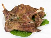 Delicious Grilled Goat Meat Ready To Serve