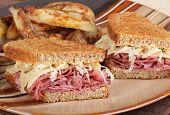 Reuben Sandwich Meal