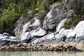 Wild Coastline Along Glacier Bay Near Skagway - Alaska.