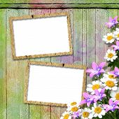Frameworks For Photo. The Vintage Wooden Background.