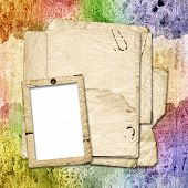 Multicoloured Backdrop For Greetings Or Invitations.