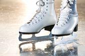 Dramatic Landscape Natural Shot Of Ice Skates