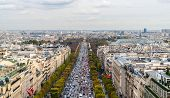 Avenue Des Champs-�lys�es As Seen From The Arc De Triomphe. Paris, France