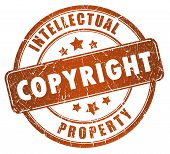 stock photo of plagiarism  - Copyright grunge stamp isolated on white background - JPG