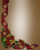 Christmas Border Ribbons And Ornaments
