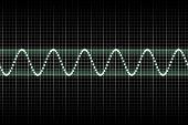 Batidas de música batendo futurista
