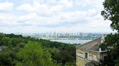panorama of Kyiv city in spring