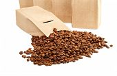 The Goffered Cardboard Box With Coffee Grains