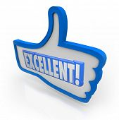 picture of you are awesome  - The word Excellent to give positive feedback to something you like - JPG