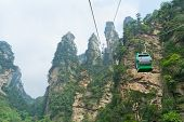 stock photo of ropeway  - Aerial ropeway in the famous Avatar Mountains - JPG