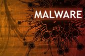 foto of malware  - Malware Security Alert Abstract Background in Red - JPG