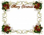 stock photo of merry christmas text  - Image and illustration composition for Christmas card invitation template with copy space - JPG