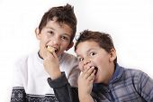 Two Boys And Food