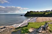 View of Aberporth Beach, Ceredigion, Wales.