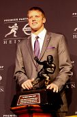 NEW YORK-DEC 8: Kansas State quarterback Collin Klein attends the 2012 Heisman finalists press confe