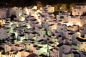 Andalusian Village Casares At Dusk