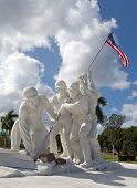 image of iwo  - Statue of marines at Iwo Jima in Ft - JPG