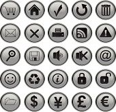 Web Icons Set cinza