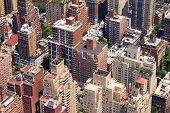 foto of voyeurism  - Aerial View of New York City Building Background Texture - JPG