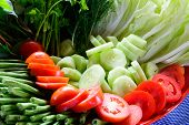 Fresh Vegetable In Tray