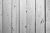 Old Black And White Color Wooden Fence Background