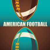 American football background. Vector illustration.