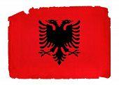 Grungy Flag - Albania