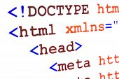 Fragment Of Html Source Code Of Web Page With Title