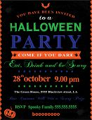 image of frankenstein  - Halloween Party Invitation - JPG