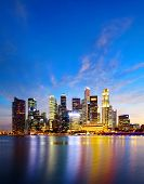 pic of singapore night  - Singapore skyline at night - JPG