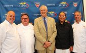 Celebrity chefs David Burke, Tony Mantuano , Masaharu Morimoto and Jim Abbey
